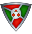 steel shield with flag burundi vector image vector image