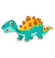 stegosaurus cartoon vector image vector image