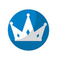 sticker nice crown of king to glory and pawer vector image