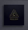 stylish letter c premium logo design concept vector image vector image