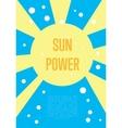 Sun power banner Eco energy concept vector image