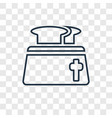 toaster concept linear icon isolated on vector image
