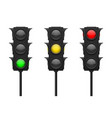 traffic lights set vector image vector image