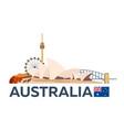 travel to australia sydney skyline vector image