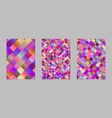 trendy abstract gradient square flyer background vector image vector image