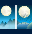 two moonlit night vector image