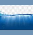 underwater landscape with sunbeams vector image vector image