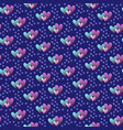 valentines hand drawn gradient pattern-01 vector image vector image