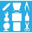 White school goods silhouettes Part 1 vector image vector image