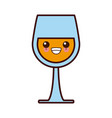 wine glass cup kawaii cute cartoon vector image vector image