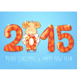Winter chinese new year card with sheep vector image