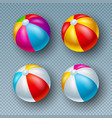 with colorful beach ball vector image