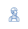 worker line icon concept worker flat vector image vector image