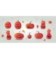 Happy Halloween pumpkin vector image