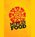 mexican food logo design template vector image