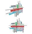 Management tags cloud vector image