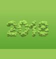 2018 green balls numbers vector image vector image