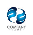 3d initial letter b logo design template element vector image vector image