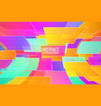 abstract colorful mosaic trendy color shapes in vector image