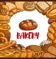 bakery bread sketch poster vector image vector image