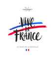 bastille day hand drawn vector image vector image
