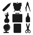 Black school goods silhouettes Part 1 vector image vector image
