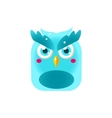 Blue Owl Chick Square Icon vector image vector image