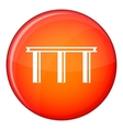 Bridge icon flat style vector image vector image