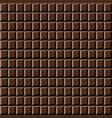 chocolate bar seamless pattern sweet texture vector image
