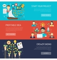 Crowdfunding Banner Set vector image vector image
