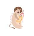 cute postcard happy family with a lion vector image