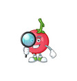 detective cartoon lovi lovi fruit with mascot vector image vector image