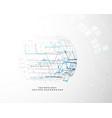 digital technology innovation design concept vector image vector image