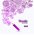 Doodle floral design vector image vector image
