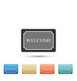 doormat with the text welcome icon isolated vector image vector image
