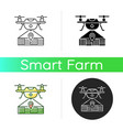 drone mapping icon vector image vector image
