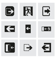 exit icons set vector image vector image