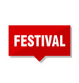 festival red tag vector image vector image