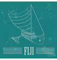 Fiji Fijian canoeing Retro styled image vector image vector image