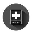 first aid sign icon in flat style health help and vector image