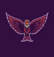 flying condor bird mascot logo vector image