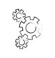gears union collaboration team work vector image vector image