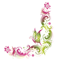 Green pink summer flower vector image vector image