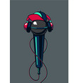hip hop microphone with cap on isolated background vector image vector image