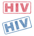 hiv textile stamps vector image vector image