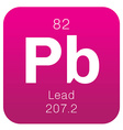 Lead chemical element vector image vector image
