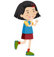 little girl pointing up vector image vector image