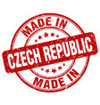 made in czech republic red grunge round stamp vector image