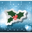 merry christmas card with decorative element vector image vector image