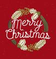merry christmas inscription handwritten vector image